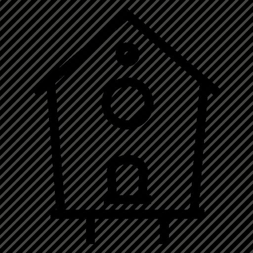birdhouse, garden, gardening icon
