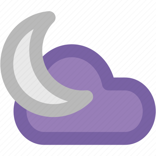 cloud, forecast, moon, night, night moon, weather icon