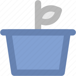 flowering plant, greenery, nature, plant, plant pot, pot icon