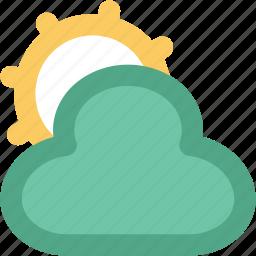 cloudy, pronostic, sun and cloud, sunrise, sunset, weather, winter icon