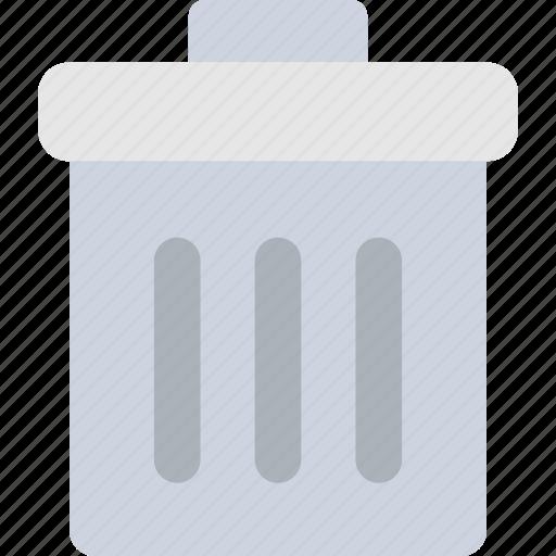 dustbin, garbage, recycle bin, trash bin, trash can icon