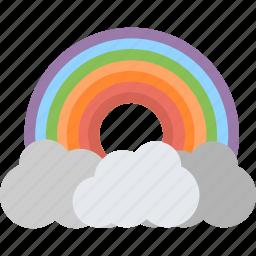 cloud, nature, rain, rainbow, weather icon