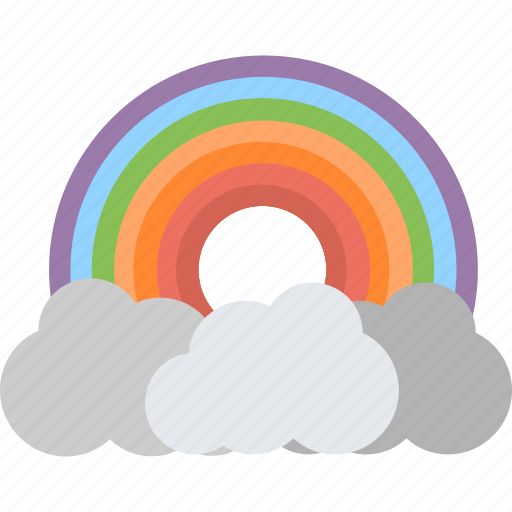 Cloud, nature, rain, rainbow, weather icon - Download on Iconfinder