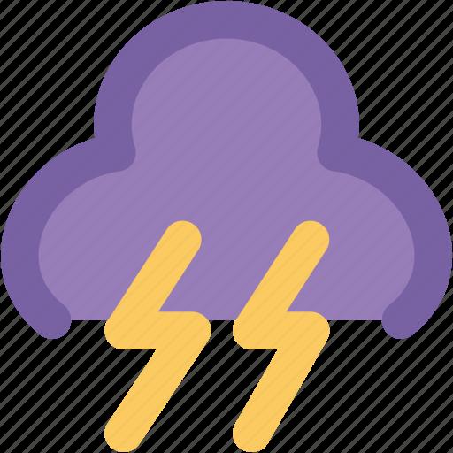 lightning, power lightning, powerful lightning, thunder bolt, thunder lightning, thunderstorm icon