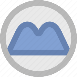 hill mountain, hill station, hilly area, mountain, mountain range, nature icon