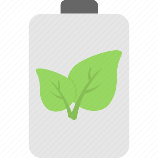 battery, cell, charging, leaf, power icon