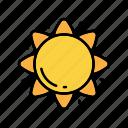desert, nature, sun, weather icon