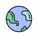 globe, nature, travelling icon