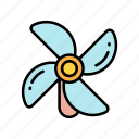 fan, nature icon