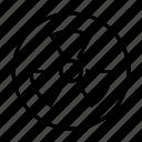 danger, energy, radioactive, ray, sign, x icon