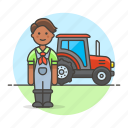 agricultural, agriculture, farm, farmer, farming, female, machinery, nature, tractor