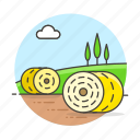 agriculture, animal, bales, countryside, farm, farming, field, fooder, hay, husbandry, nature, ranch, round