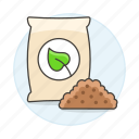 agriculture, crop, farming, fertilizer, growth, nature, plant, soil icon