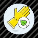 equipment, garden, gardening, glove, leaf, nature, tools icon