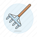 equipment, garden, gardening, hand, harrow, nature, rake, tools icon