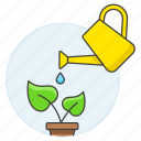 can, garden, gardening, leaf, nature, plant, pot, watering icon