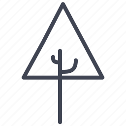 ecology, forest, nature, plant, tree, triangle icon