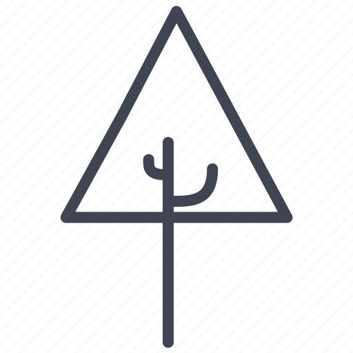 Tree, triangle, ecology, forest, nature, plant icon - Download on Iconfinder