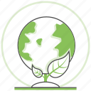 ecology, global, green, nature, save, world icon
