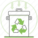 bin, center, ecology, nature, recycling, trashcan, waste icon