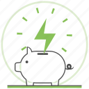 bank, ecology, energy, green, nature, piggy, save icon