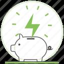 bank, ecology, energy, green, nature, piggy, save