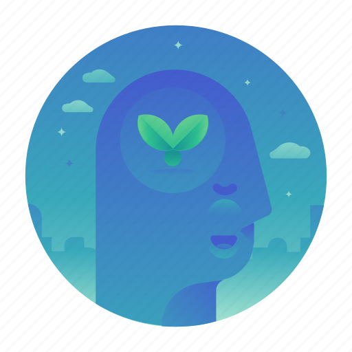 ecology, nature, plant, thought icon