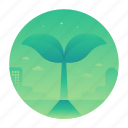 ecology, nature, plant, sprout icon