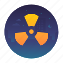 danger, ecology, hazardous, nuclear icon