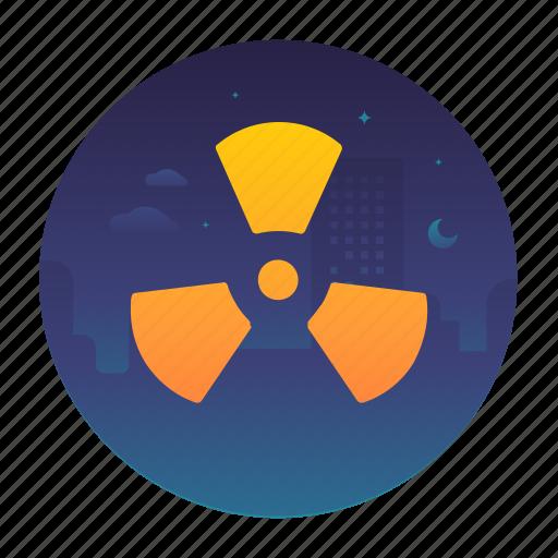 danger, ecology, hazardous, nuclear icon