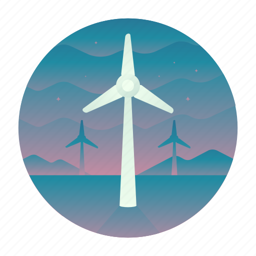ecology, energy, power, windmill icon
