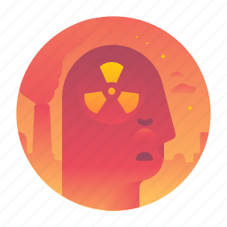 danger, ecology, nuclear, thought icon