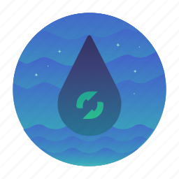 ecology, reyse, water, water drop icon
