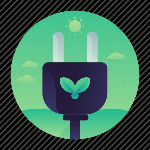 ecology, energy, green, power icon