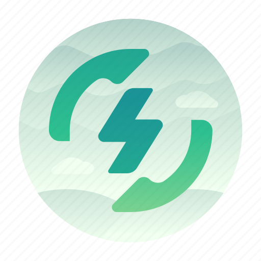 ecology, energy, power, reuse icon