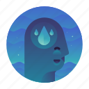 ecology, mind, thought, water icon