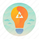 ecology, energy, lightbulb, recycle icon