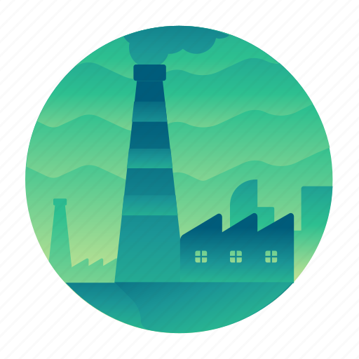 ecology, factory, power, power plant icon