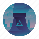 ecology, factory, power plant, recycle icon