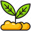 farming, gardening, plant, seed growth, sprout icon