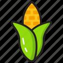 cereal, corn, corn cob, diet food, grain, maze icon