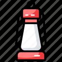 camping lantern, lantern, light, oil lantern, vintage torch icon