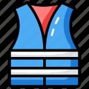 life preserver, lifebuoy, lifejacket, lifesaver, reflective vest icon