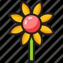 flower, gardening, nature, organic plant, sunflower icon