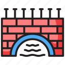 barrage, canal, dam, hydropower, water production icon
