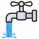 faucet, tap, water hose, water irrigation, water supply system icon