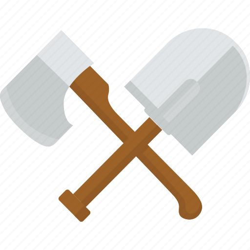 axe, pioneer, shovel, tools, work icon