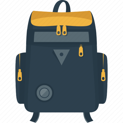 backpack, bag, camping, nature, rucksack, travel icon