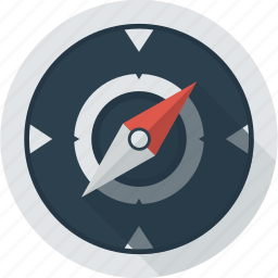 compass, direction, location, north, south icon