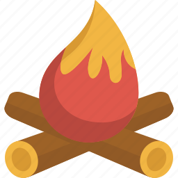 camp, camp fire, fire, hot, warm, wood icon